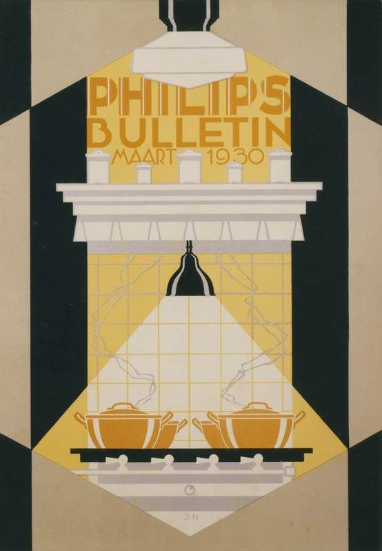 vintage Philips lighting advertisement, 1930