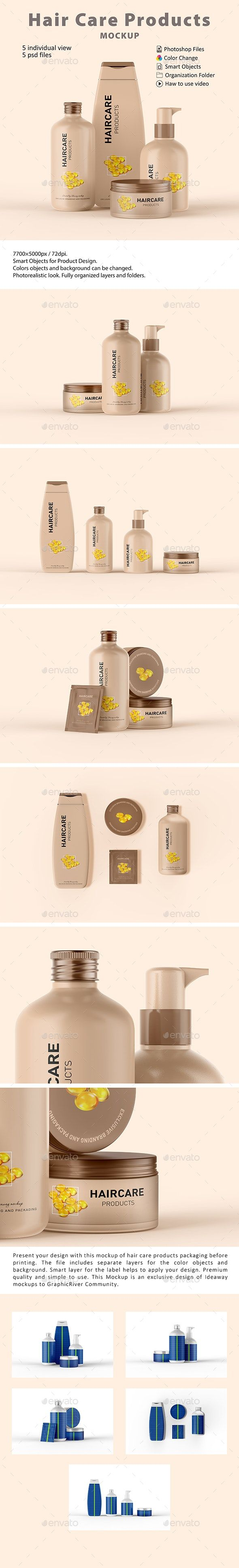 Cosmetic Hair Care Products Mockup Hair Care Products Professional Hair Care Cosmetics Mockup