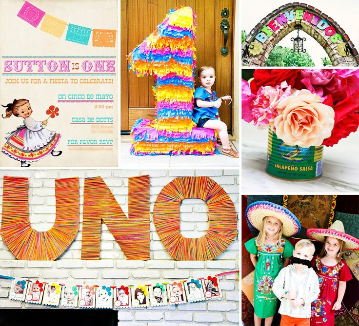 """Me Gusta! A Colorful """"First Fiesta"""" Celebration inspired by Mexican Folk Art!"""