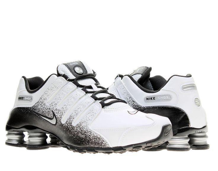 Nike Shox NZ EU White/Silver-Black Mens Running Shoes 501524-103