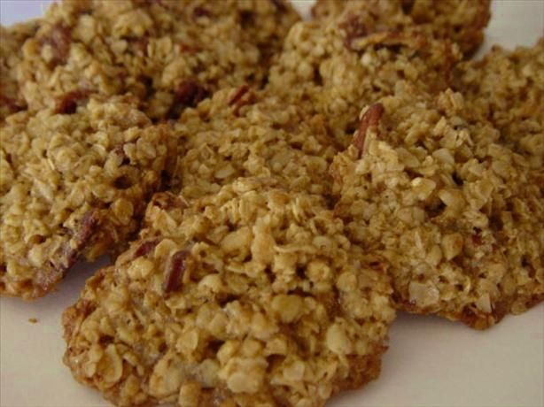 Oatmeal-Pecan Lace Cookies
