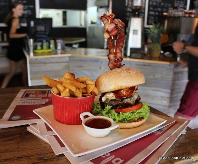 The Lott, Robina, Gold Coast, serves breakfast and burgers with 'the lot'!