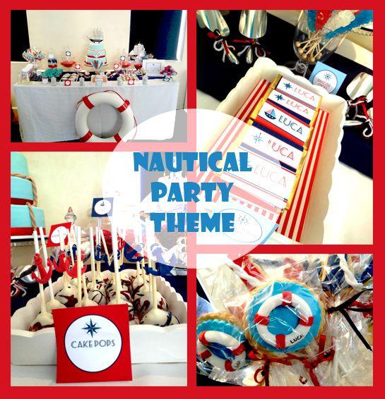 Nautical Party Theme Ideas Part - 50: Nautical Party Theme Set Up For A Christening Celebration #nautical