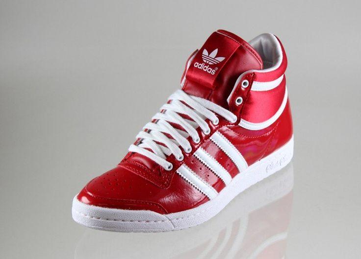 Bildergebnis für adidas top ten hi sleek lack (rot weiss)