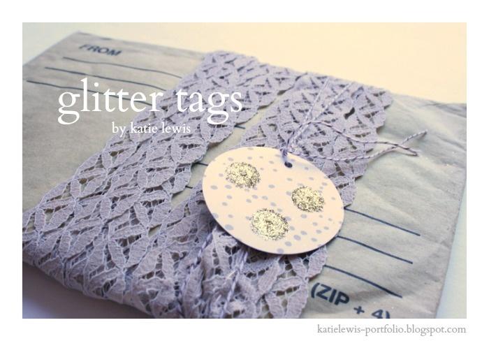Glitter Tags | katie lewis portfolio