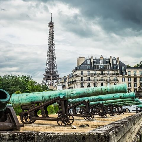 PHOTO:  The Eiffel Tower view from Napoleon's Tomb in Paris, France.
