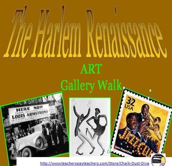 The Harlem Renaissance ART GALLERY WALK Activity Your students will feel as if they stepped back in time to the Harlem Renaissance with this engaging activity. Common Core Aligned! $7.00 #U.S. History lesson plans teaching strategies.