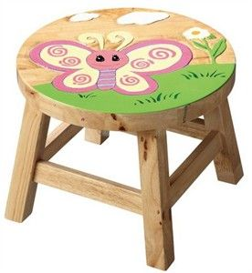 wooden stools for kids
