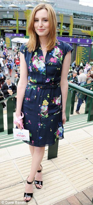 Love this dress! Best of British: Downton Abbey stars Michelle Dockery and Laura Carmichael attended Wimbledon on Monday
