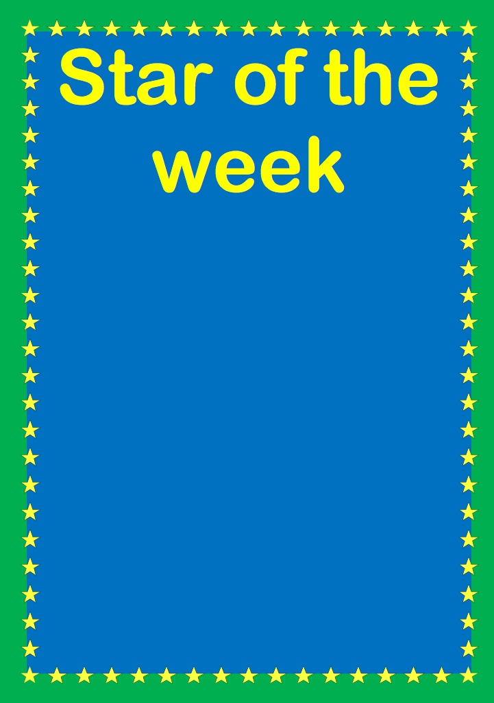 13 best star of the week images on pinterest classroom for Star of the week poster template