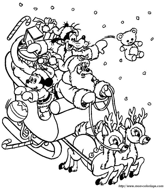 Disney Santa Kids Coloring SheetsDisney PagesKids