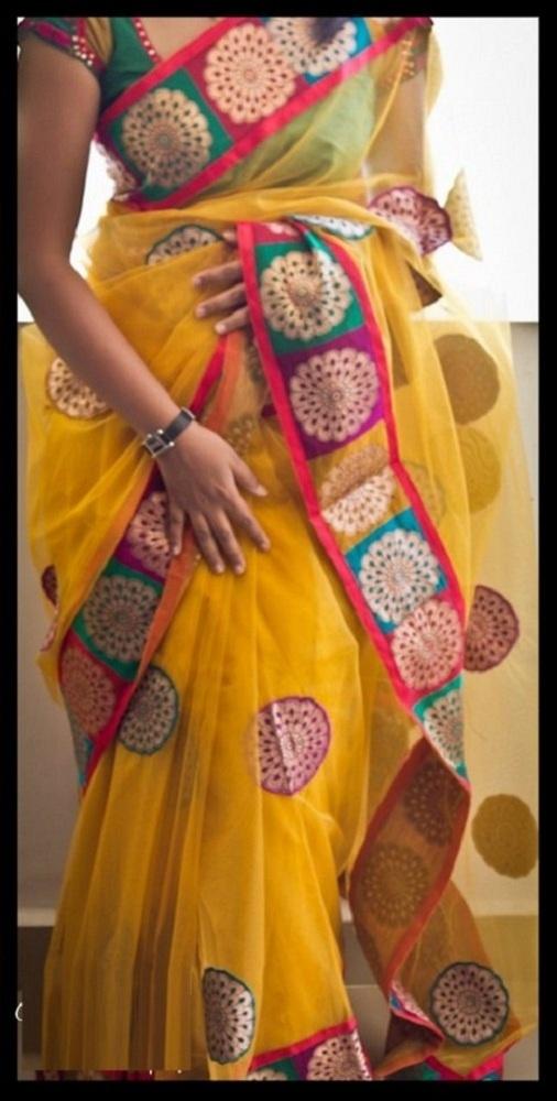 net sarees blouse designs