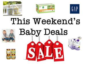 Bargains for this weekend - save at Gymboree, Old Navy, Gap, great deal on baby food, wipes and more