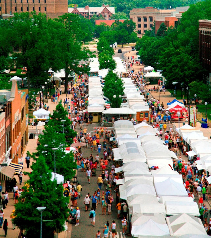 Thousands of people come from all across the country every year to see the Ann Arbor Summer Art Fair!