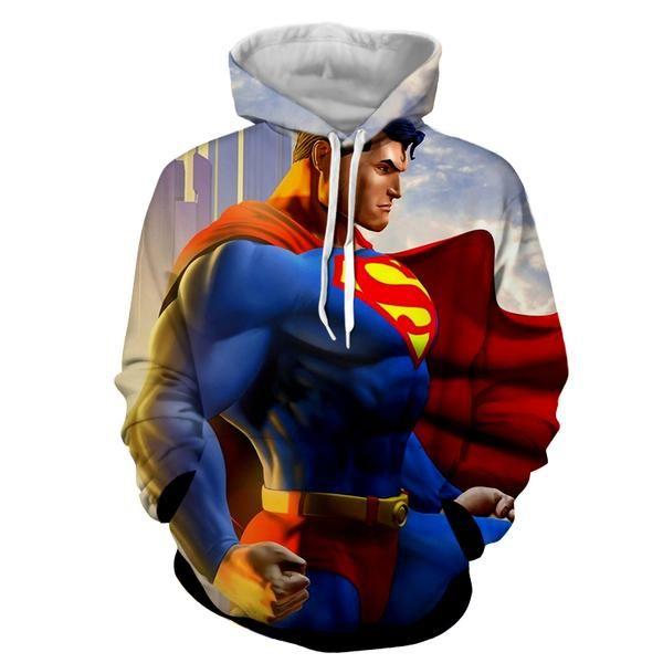 Flying Cape Superman 3D Printed Hoodie
