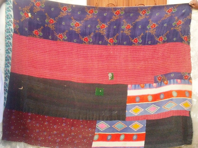 Ralli quilt that is made from used fabrics in Sindh of 1990s.