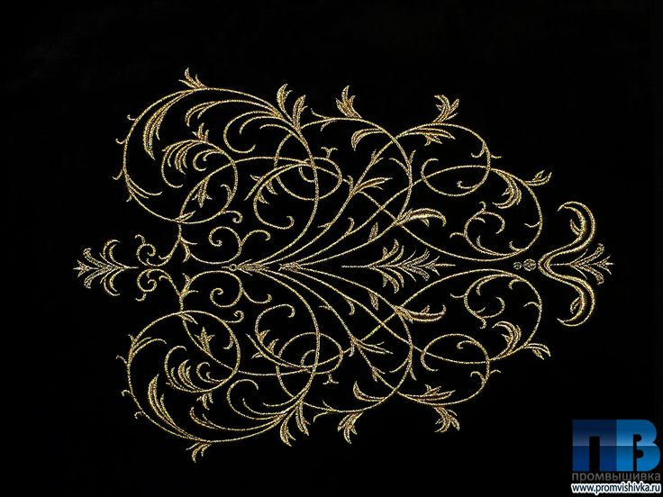 Вышивка золотого узора на бархате #embroidery #gold #pattern