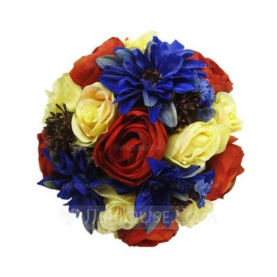 Wedding Flowers - $28.39 - Gorgeous Hand-tied/Round Satin Bridal Bouquets (123031463) http://jjshouse.com/Gorgeous-Hand-Tied-Round-Satin-Bridal-Bouquets-123031463-g31463?pos=related_products_8