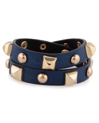 .: Bracelet, Backstage Pass, Studded Blue, Style, Blue Cuff, Pass Studded, Cuffs