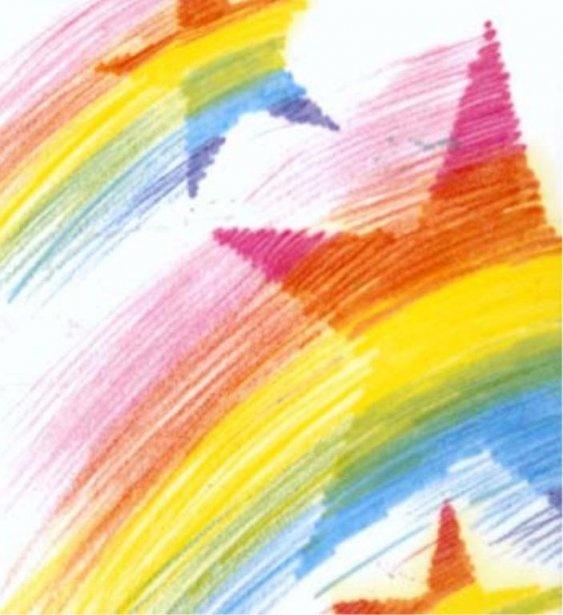 El dibujo favorito de Dot Starlight seguro son las estrellas de colores.
