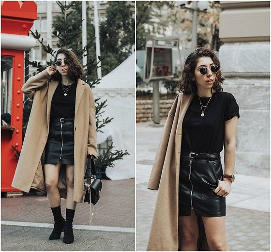 Get this look: http://lb.nu/look/8932007  More looks by Theoni Argyropoulou: http://lb.nu/theoni_argp  Items in this look:  Leather Skirt, H&M Belt, H&M Necklace, Zaful Sock Boots, Stradivarius Camel Coat   #casual #elegant #street #outfit #ootd #look #lotd #winterstyle #zafulgirl