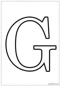 G Abecedario letras grandes imprimir mayúsculas