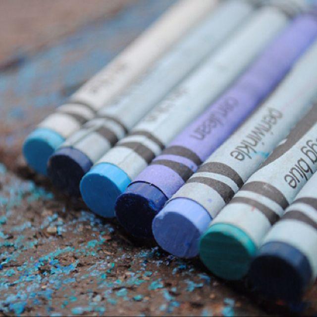 Blue Green Crayon