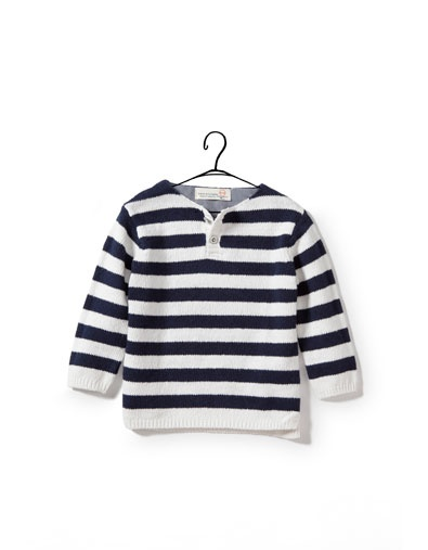 Two-Tone Striped Sweater. Zara.Two Ton Stripes, Sweaters Baby, Zara Two Ton, Baby Sweaters, Stripes Sweaters, Baby Boys, Boys Stripes, Baby'S Toddle Boys, Striped Sweaters