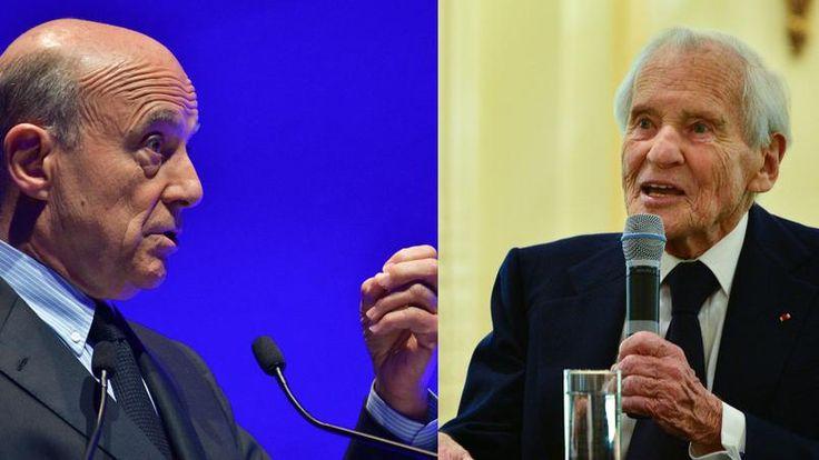 Alain Juppé et Jean d'Ormesson.