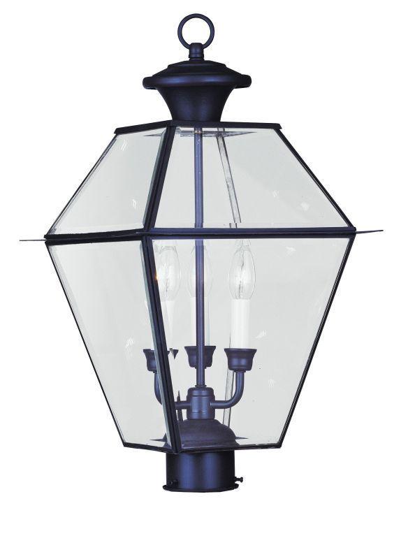 "Livex Lighting 2384 Westover 3 Light 20-1/2"" High Outdoor Post Light"
