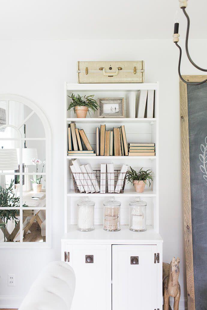 24+ White farmhouse bookcase ideas in 2021