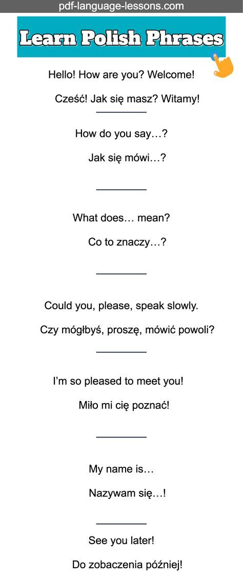Learn polish phrases