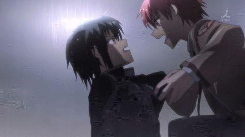 Angel Beats! <3 Yuzuru Otonashi & Ayato Naoi. I loved this episode!