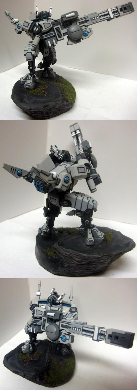 Tau, Tau Broadside - Amazing paint-scheme.  Tronish