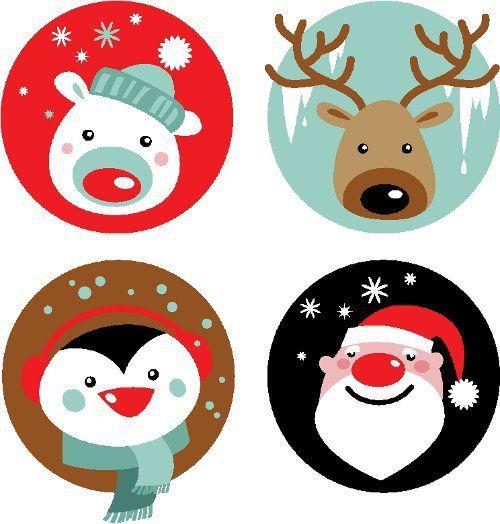 Dibujos para imprimir de navidad navidad vintage for Figuras de navidad para decorar