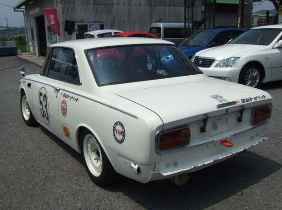 1968 Toyota Corona RT55 GT5 Coupe Vintage Race Car For Sale Rear