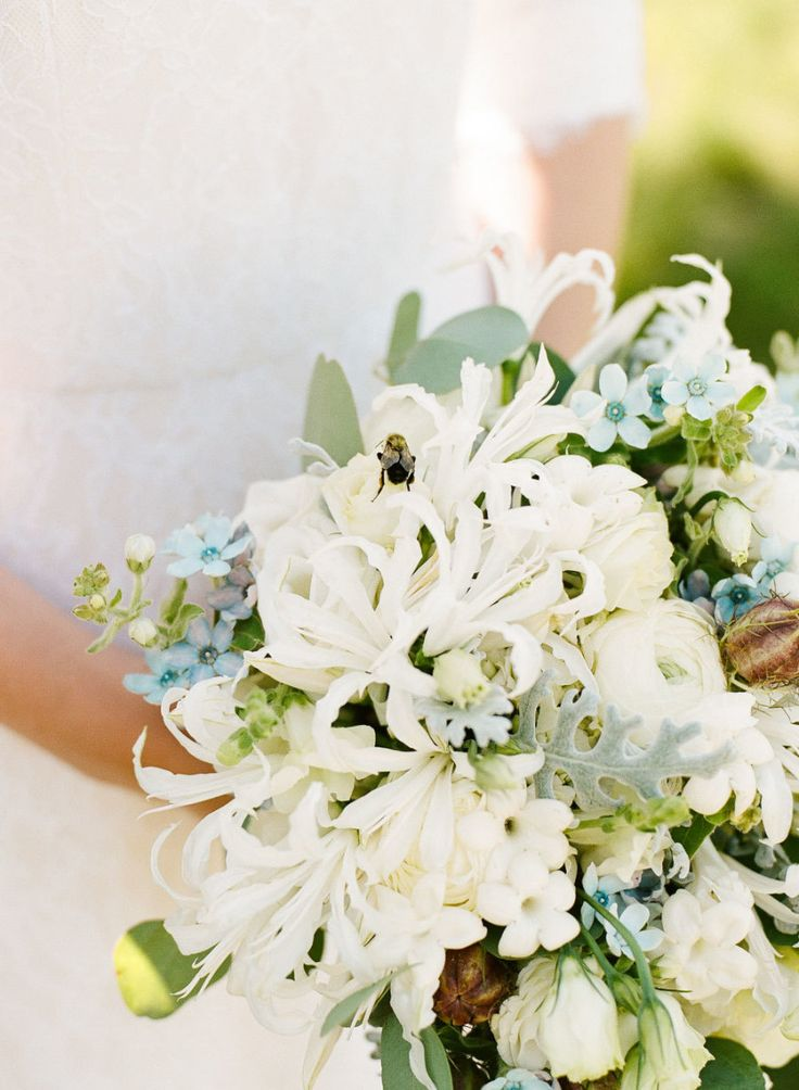 Stephanotis (Floral Design: Pretty Flowers) - Intimate Lighthouse Wedding on the Coast of Maine by Emily Elizabeth Events (Wedding Planning, Styling + Design) + Sarah Der (Photography)