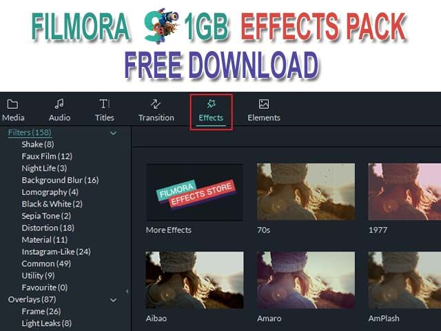 Filmora 9 1gb Effects Pack Free Download Free Download Free Lomography