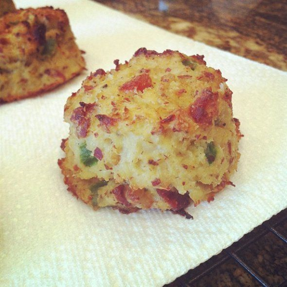 Cauliflower Biscuits with Bacon & Jalapeño | fastPaleo Primal and Paleo Diet Recipes