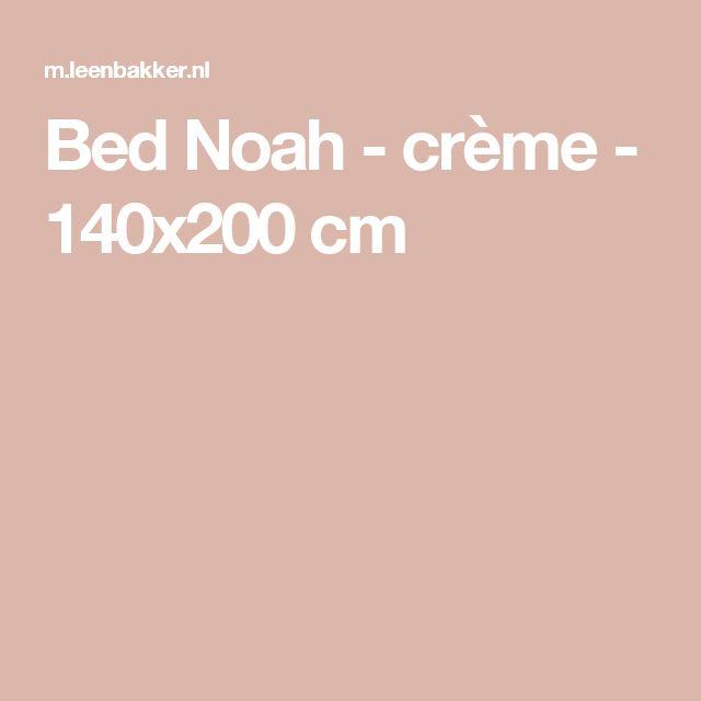 Bed Noah - crème - 140x200 cm