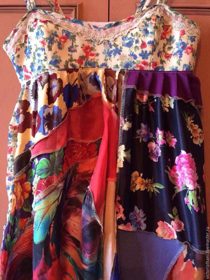 """Купить Платье бохо-стиль """"Цветочная поляна"""" - бохо стиль одежда, бохо стиль шик"""