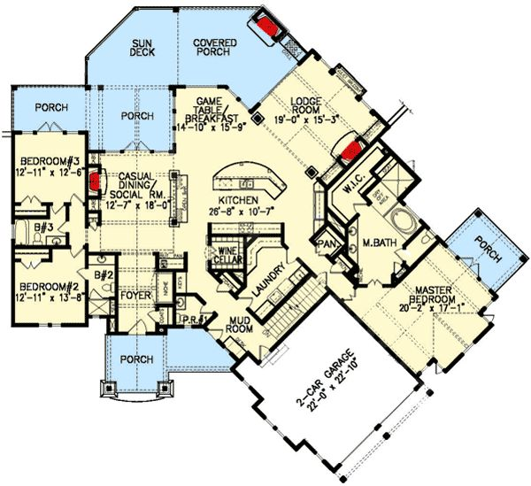 Plan 15698ge secluded master suite basement plans for Basement master suite plans