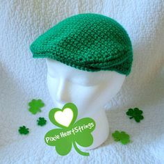 Boys St. Patrick's Day Cap. Kelly Green by PixieHeartStrings