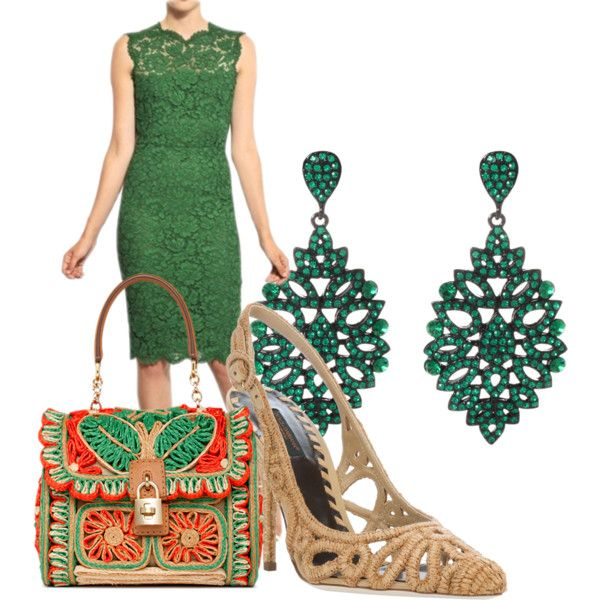 """Lace Green"" by patrizia-novello on Polyvore"