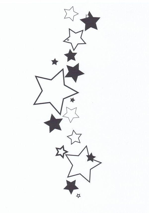 cluster of stars tattoo designs star tattoo 1 by cr416l1ndl3y on rh pinterest com