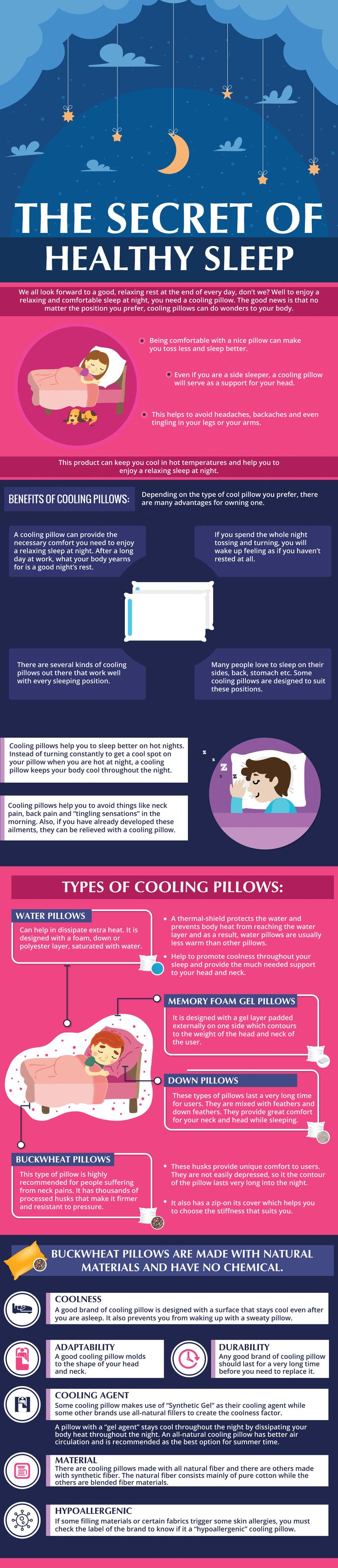 We all look forward to a good, relaxing rest at the end of every day, don't we? Well to enjoy a relaxing and comfortable sleep at night, you need a cooling pillow. Many people have different sleeping positions which work for them. The good news is that no matter the position you prefer, cooling pillows can do wonders to your body.
