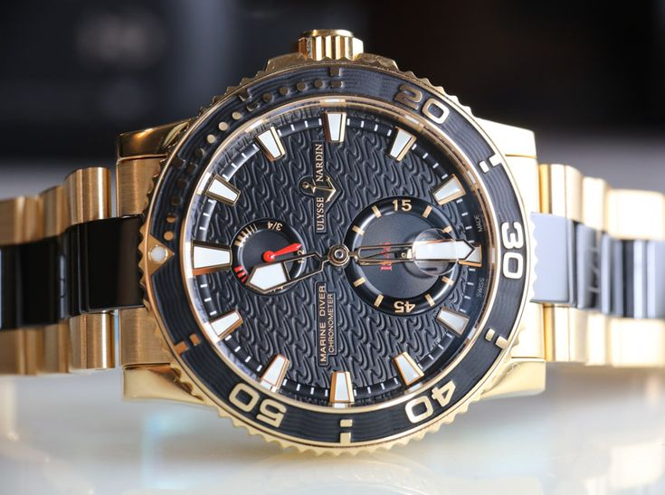 Ulysse Nardin Maxi Marine Diver Gold Ceramic Watch Review   ulysse nardin
