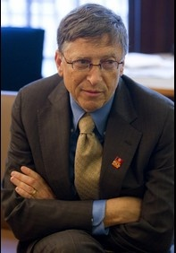 Bill Gates, he's made millions, but dedicated large amounts on charity and the betterment of other people's lives.