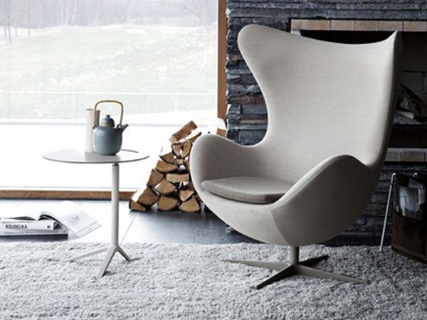 Elegant Log Cabin Egg Chair.