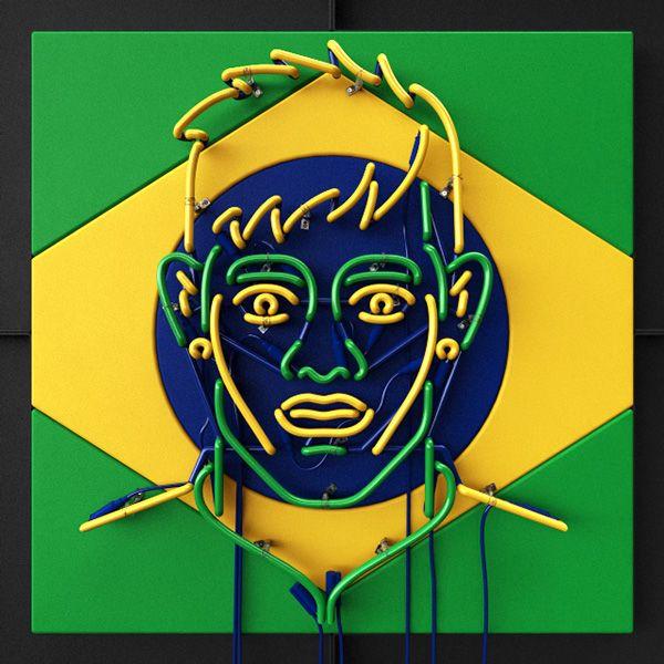 NEON / FIFA World Cup by Rizon Parein, via Behance